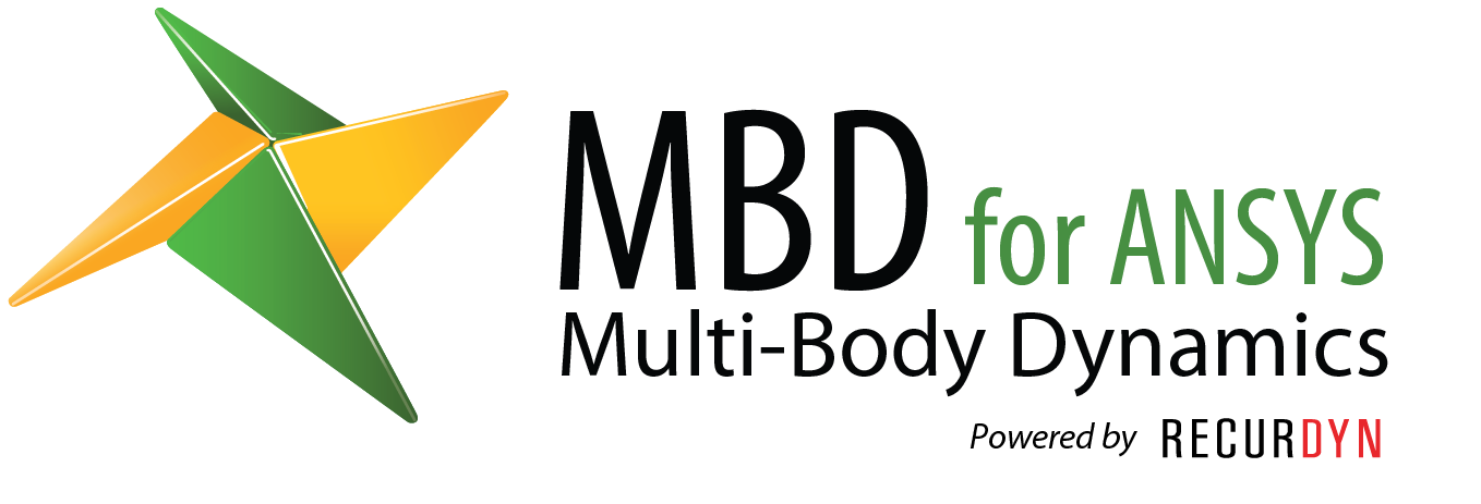 logo of MBD for ANSYS - motion analysis tool powered by RecurDyn