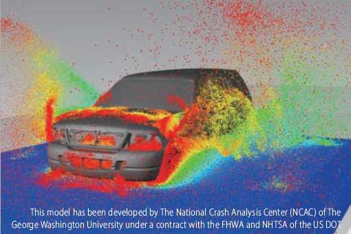 Car running on the flooded road using Multibody dynamics and CFD cosimulation