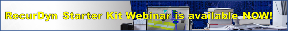 RecurDyn Starter Kit Webinar - Multibody dynamics software