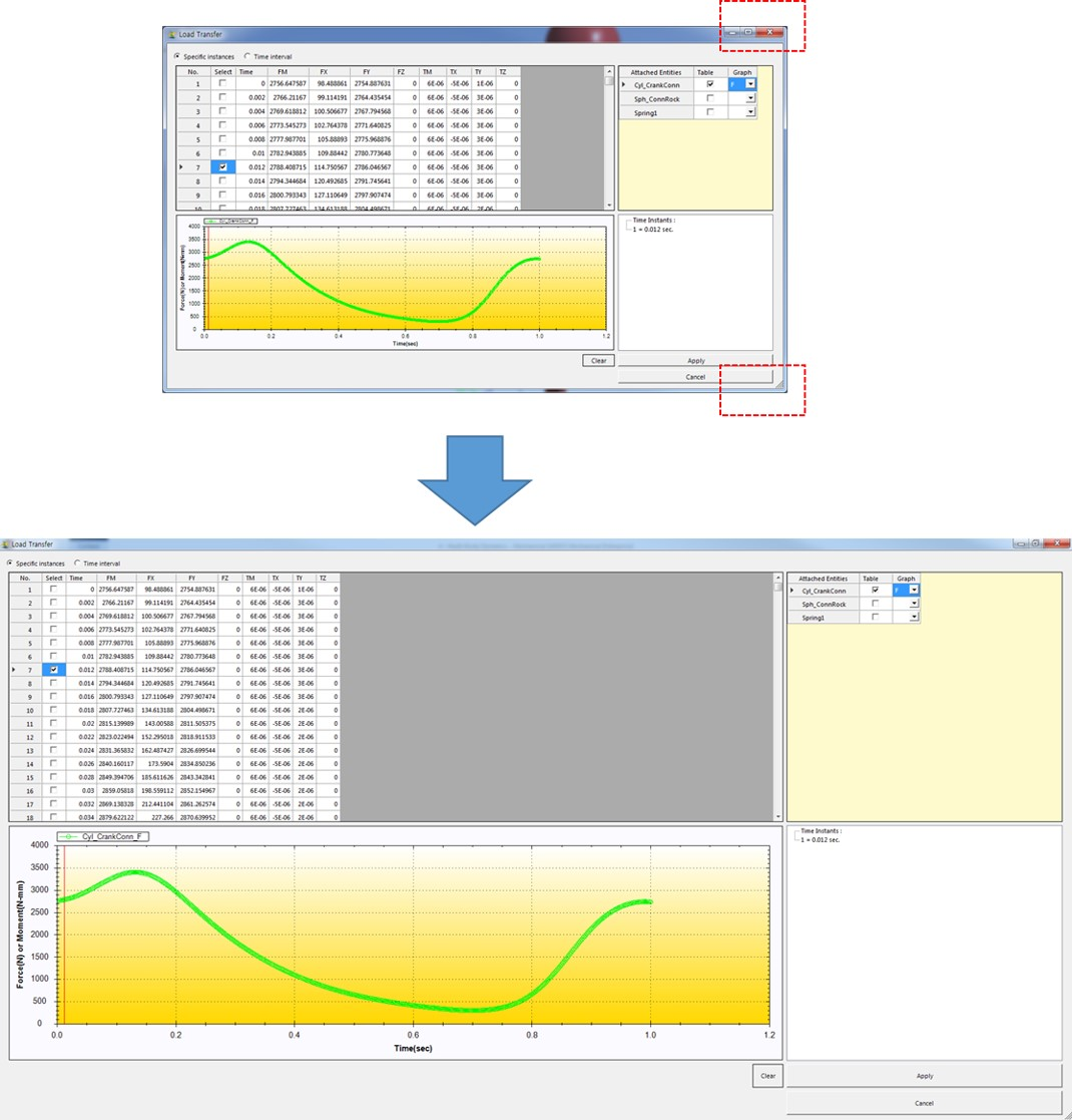 MBD for ANSYS 2019 R3 - motion analysis - resizable Load Transfer