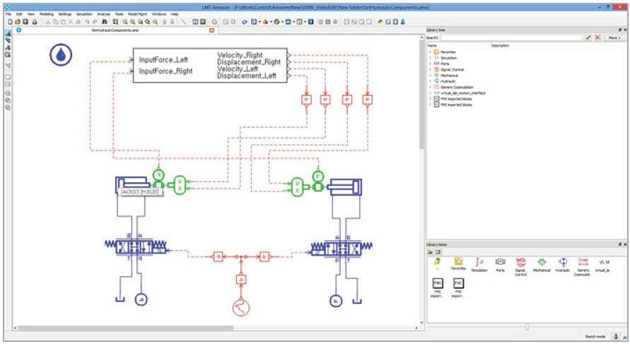 Mechatronics simulation using RecurDyn and FMI